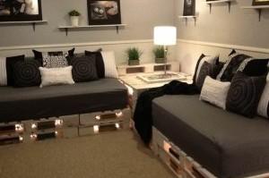 Faire des meubles avec des palettes de bois recycl es - Faire un canape avec des palettes ...